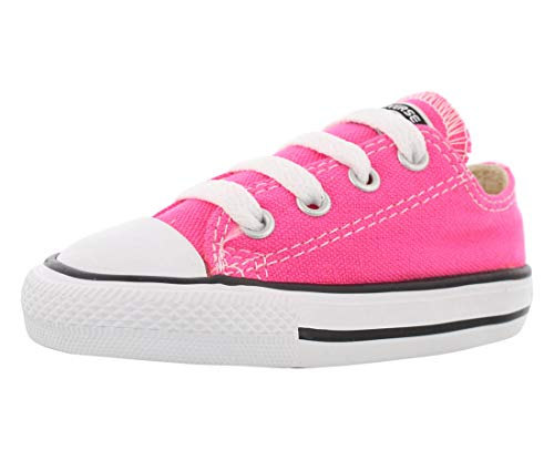 Pink Toddler Converse Shoes (Converse Chuck Taylor All Star Ox Toddler Shoes Pink Pow/White 757646f (10 M)