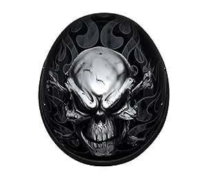 Custom Designed Novelty Motorcycle Helmet with Skull and Crossbones (Size L, LG, Large)