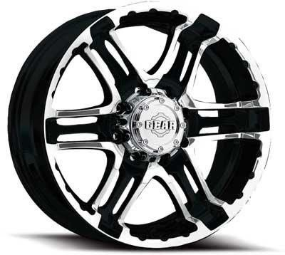 - Gear Alloy Double Pump 16x8 Black Wheel / Rim 6x5.5 with a 0mm Offset and a 107.95 Hub Bore. Partnumber 713MB-6808400