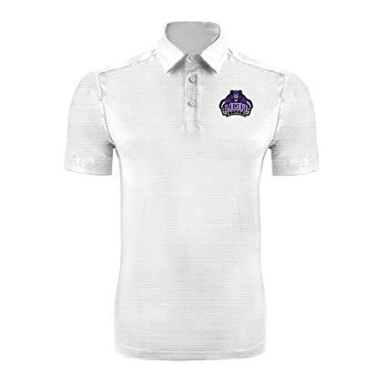 buy popular 985d9 5d7ab Amazon.com : Central Arkansas White Horizontal Textured Polo ...
