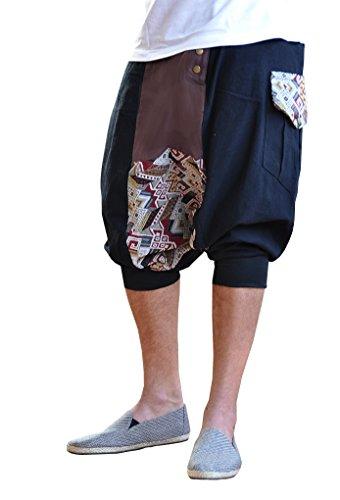 BONZAAI Haremshose Aladinhose Pumphose Pluderhose GOA Hose yoga - alternative Kleidung - Spektakulär, Gr. OneSize