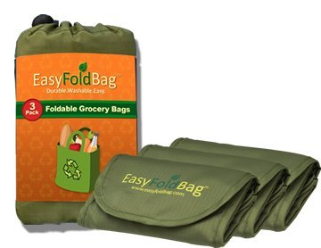 Amazon.com: Easy Fold Bag - Reusable Grocery Bags - 3 Pack, Wine ...