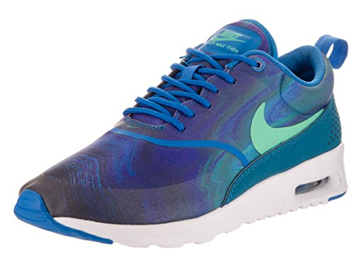 free shipping 30af3 476cc Galleon - Nike Women s Air Max Thea Print Blue Spark Blue Spark Green Abyss  Green Glow Running Shoe 9 Women US