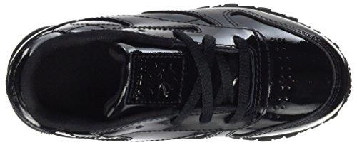 Reebok Mädchen Classic Leather Patent Gymnastikschuhe Schwarz (Black Black)