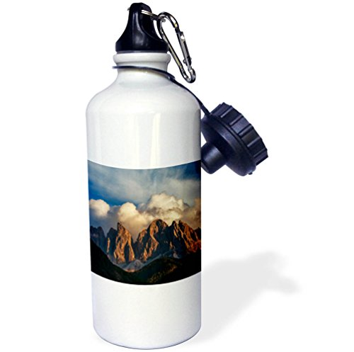 3dRose Danita Delimont - Mountains - Clouds drift over mountain peaks, Dolomites, Italy - 21 oz Sports Water Bottle (wb_277536_1) by 3dRose