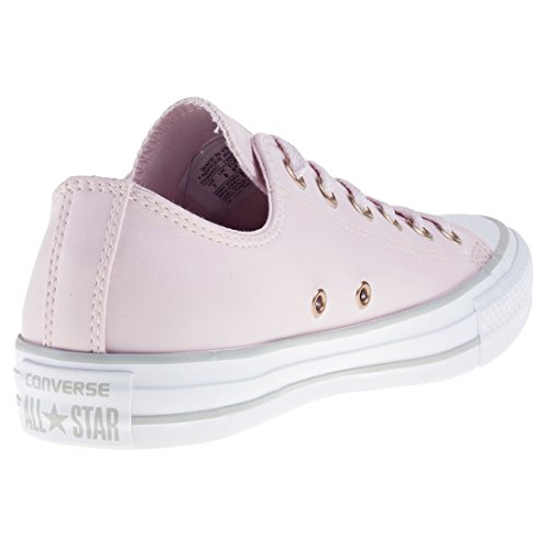 Converse Women's Chuck Taylor CTAS Ox Synthetic Fitness Shoes Pink (Barely Rose/White/Mouse 653)