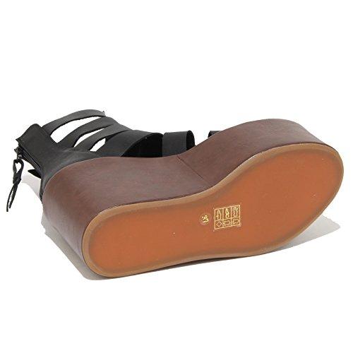 8849N sandali zeppa JEFFREY CAMPBELL ACHILLES H nero sandali donna sandals women Nero