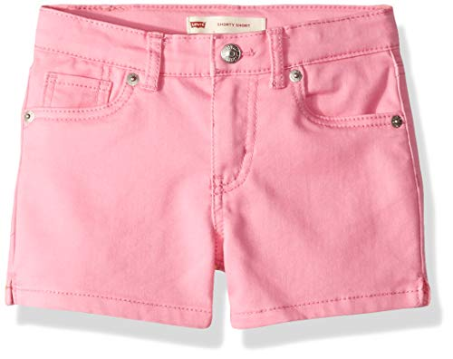 - Levi's Girls' Toddler Soft Brushed Shorty Shorts, Sachet Pink, 3T