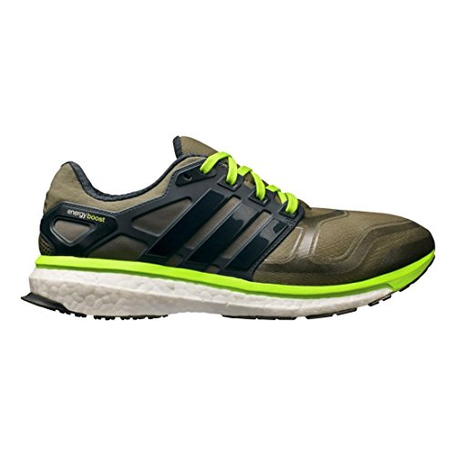 purchase cheap c389c d9bdb adidas Performance Men s Energy Boost 2 M Cushioned Running Shoe, Earth  Green Night Shade Solar Slime, 9.5 M US - Buy Online in Oman.
