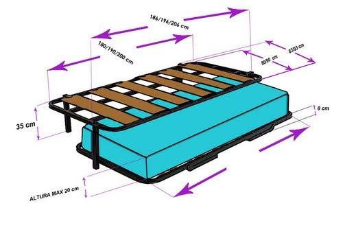 HOGAR24 ES Cama Nido Estructura Reforzada Doble Barra Superior (4 Patas) + 2 Flexitex + 2 Almohadas de Fibra, 80x180 cm: Amazon.es: Juguetes y juegos