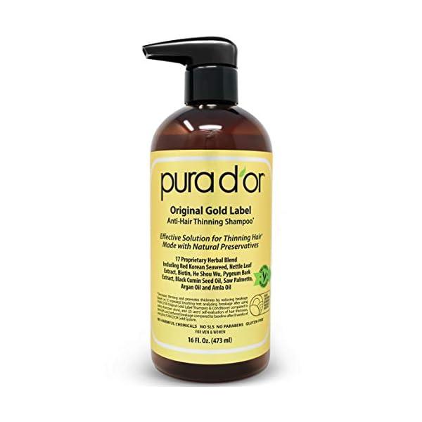 PURA D'OR Original Gold Label Shampoo Set