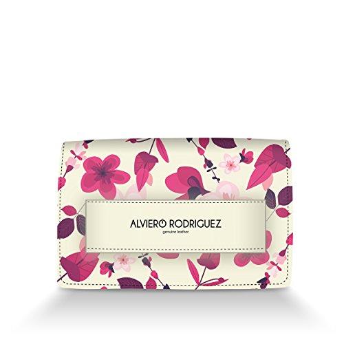 Bianca Rodriguez Alviero Fiori Donna Pink Passamano in Vera Emotions Borsa Pelle Ciliegio Rosa qd1xtnqU