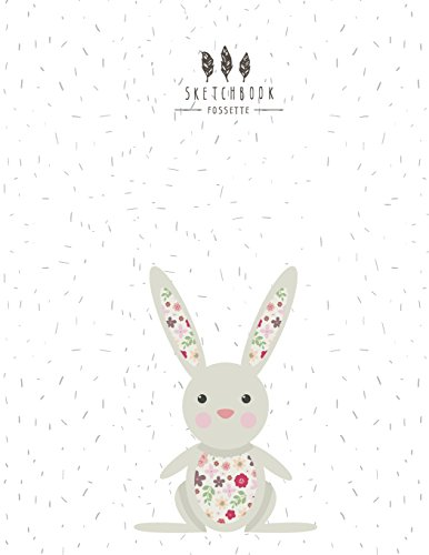 sketchbook Boho bunny on white cover (8.5 x 11)  inches 110 pages, Blank Unlined Paper for Sketching, Drawing , Whiting , Journaling & Doodling (Boho bunny on white sketchbook) (Volume 2) [sette, fos] (Tapa Blanda)