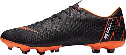 NIKE Men's Soccer Vapor 12 Academy Multi Ground Cleats (8 M US, Black/Total Orange)
