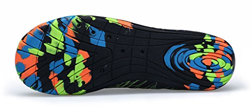 Herobest Men Womens Barefoot Quick-Dry Water Sports Aqua Shoes For Surf Yoga Water Aerobics Black&green ILMNTM