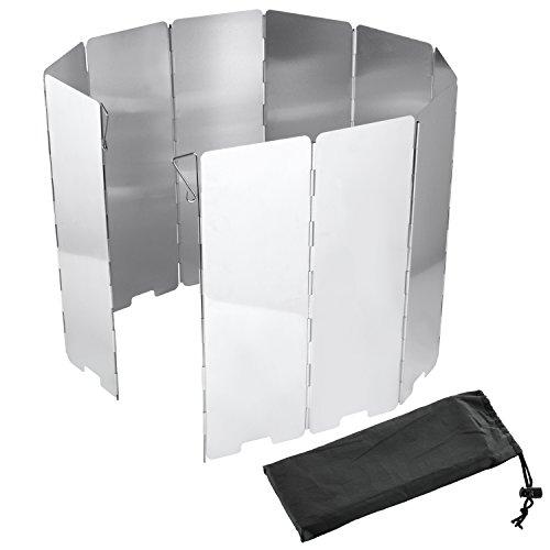 Dit gasfornuis windscherm hoge 10 lamellen van aluminium voor kamperen en wandelen