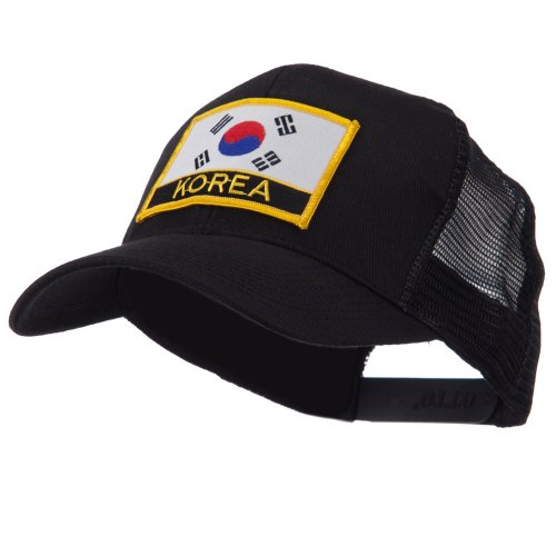 OTTO:ACE WORLD Asia, Australia and Other Flag Letter Patched Mesh Cap - Korea OSFM