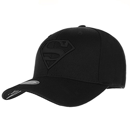 WITHMOONS Superman Shield Embroidery Cotton Baseball Cap AC3260 (TwoBlack, (Shield Cap)