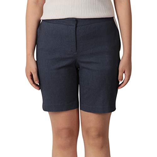 KELLY KLARK Women's Walking Shorts Comfy Casual Chino Shorts Elastic Bermuda Shorts with Pockets Denim Blue US ()
