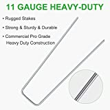 100-Pack 6 Inches Heavy Duty 11 Gauge Galvanized