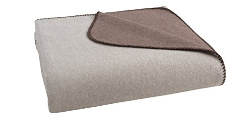 Coyuchi Reversible 100% Organic Cotton Flannel Blanket King Queen Twin (King, Brown/Tan) - Coyuchi Organic Cotton Flannel