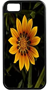 LJF phone case Blueberry Design iPhone 4 iPhone 4S Case yellow big Leaves Flowers