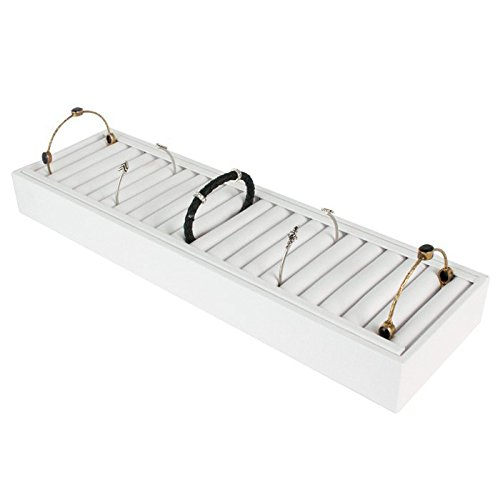 White Bangle Trays With 21 Slot Inserts For Jewelry Display by Gems on Display Jewelry Display Fixtures