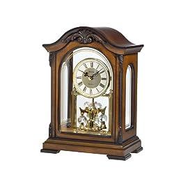 Bulova B1845 Durant Old World Clock, Walnut Finish