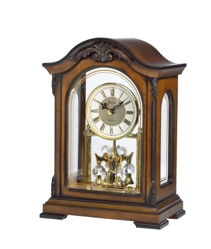 Bulova B1845 Durant Old World Clock, Walnut Finish by Bulova