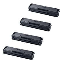 4 Pack The Red P ® Compatible Toner Cartridge Replacement for MLT-D111S D111S D111L for Samsung Xpress M2020 M2020W M2021 M2021W M2022 M2022W M2070 M2070F M2070FW M2070W M2071 M2071FH M2071W Printers