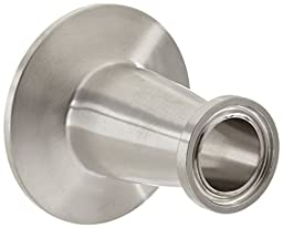 Dixon B3114MP-R10075 Stainless Steel 316L Sanitary Fitting, Clamp Concentric Red Fiberglassucer, 1\