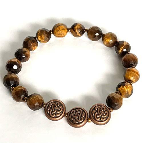 Handmade Celtic Knot Tiger Eye Bead ()