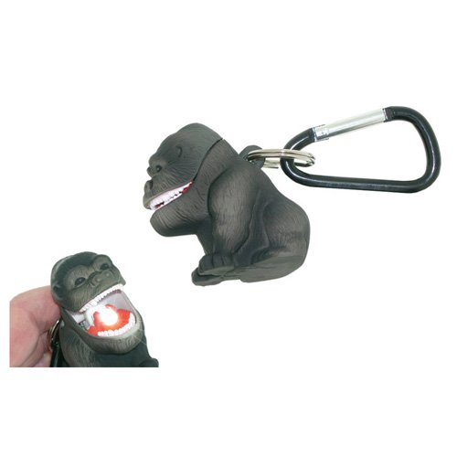 Gorilla Keychain - Sun Company Wildlight Animal Carabiner Flashlight | Animal Keychain Lights (Gorilla)