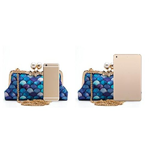 Evening Ladies Party Party A Fashion Wild Cheongsam Bag Bag Diagonal Bag Clutch Mermaid Bag Fashion ExYqpP