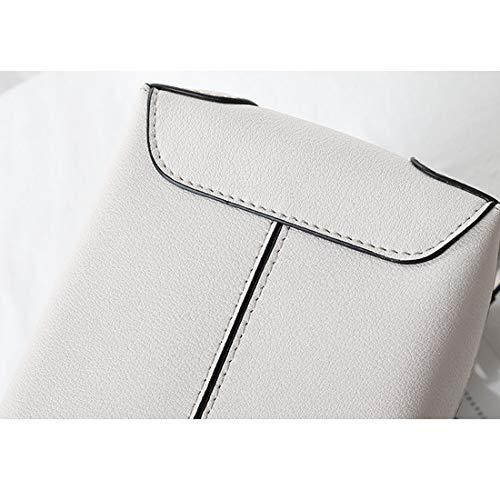 Bandolera azul Populares Mujer Bufanda White Blanco Súper Limeinimukete Bolso color Con White Real Diagonal Hzqc54