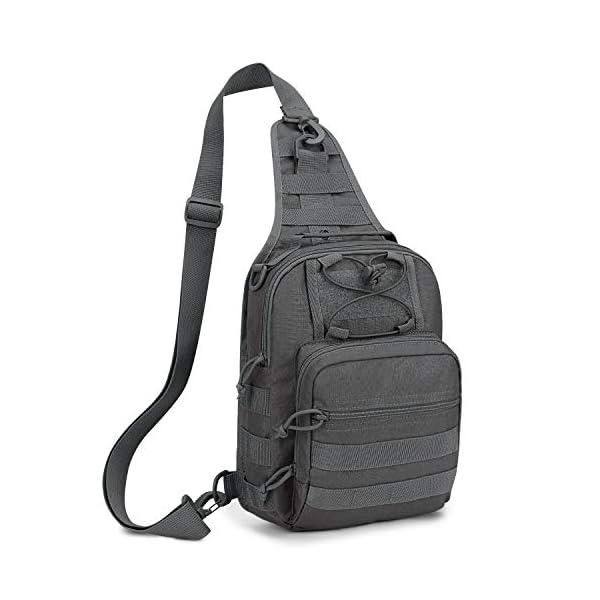 41RGny1p6lL Wind Took Schultertasche Taktische Tasche MOLLE Tactical Sling Bag Multipurpose Daypack Crossbody Brusttasche Crossbag…