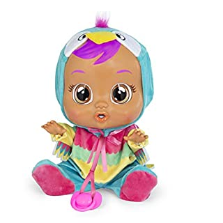 Cry Babies Loretta Baby Doll, Pink, Teal, Yellow