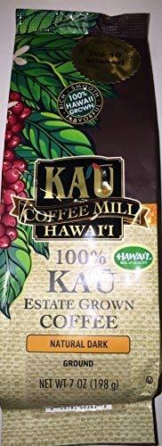 (Kau Coffee Mill Hawaii 100% Kau Estate Grown Coffee Natural Dark Ground 7 oz.)