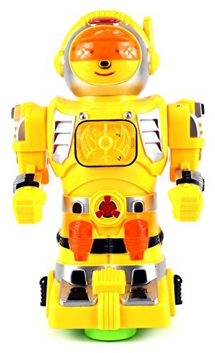 Star Show Robot Battery Operated Bump and Go Toy Robot Figure w/ Flashing Lights, Sounds (Colors May Vary) - Disney Robot