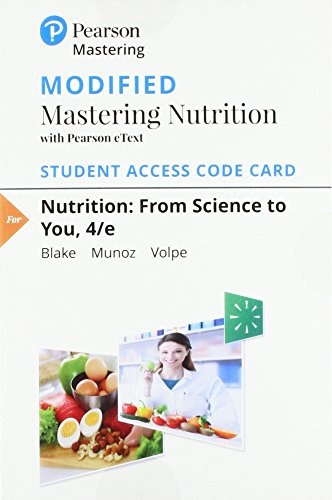 Modified Mastering Nutrition with MyDietAnalysis with Pearson eText -- Standalone Access Card -- for Nutrition: From Science to You (4th - Stella Stands
