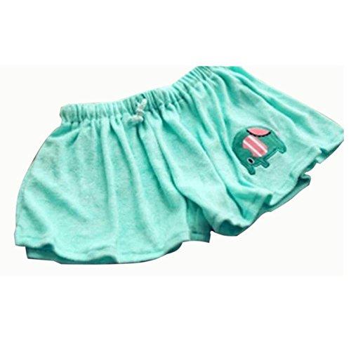 Vobaga Mujeres Pijamas patrón Animal pantalones cortos Casual cómoda Pyjamas Verde