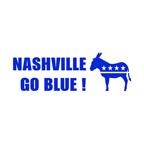 PressFans Nashville GO Blue Democratic Party Politics Elections Vote Car Laptop Wall Sticker