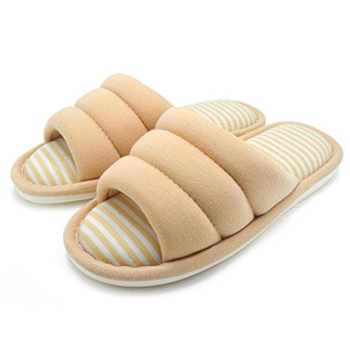 mhgao Ladies algodón simplicidad todas las estaciones Interior casa zapatillas de algodón suave Zapatillas 2