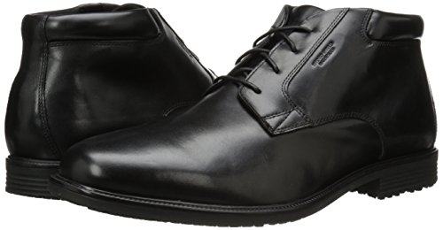 Rockport Men's Essential Details Waterproof Dress Chukka Black 6.5 M (D)
