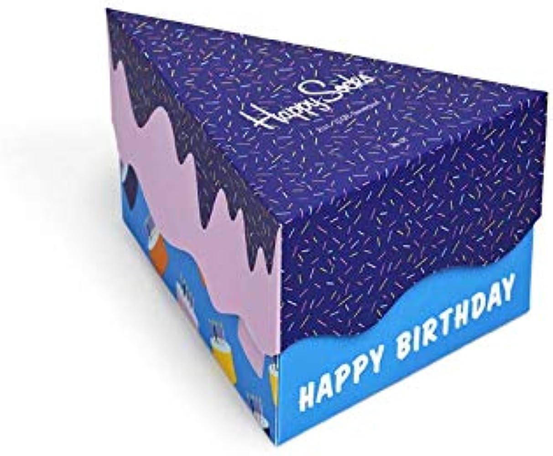 Happy Socks Paquete De Regalo De Calcetines Pack 3 Feliz Cumpleaños Hombres, Azul/naranja/azul Marino