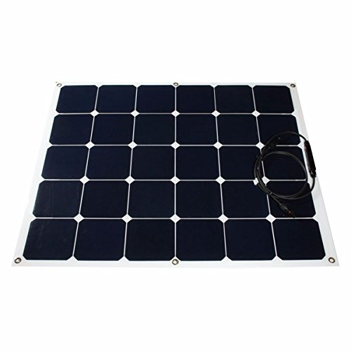 Bluelover 100W 18V Semi-Flexible Solar Panel For RV Boat Home Camping Battery Charger 2