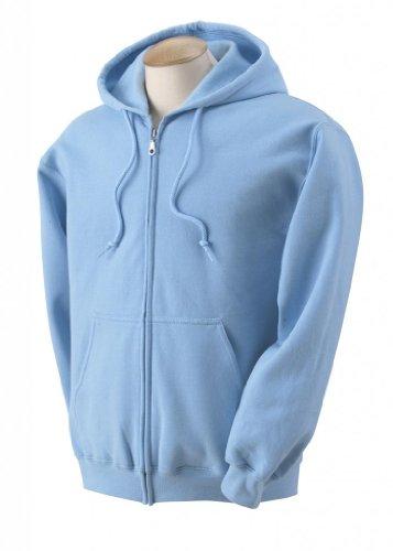 Gildan Adult Heavyweight Blend Full-Zip Hooded Sweatshirt - Light Blue, 2XL