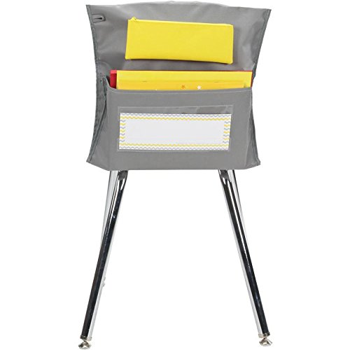 Store More Gray and Yellow Deluxe Chair Pockets - Set Of 36 by Really Good Stuff