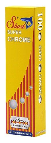 Chrome Edge Double Super (Shark Super Chrome Double Edge Razor Blades (100 Blades))