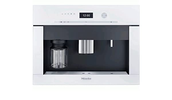 Miele CVA 6401 bw - Cafetera (Integrado, Totalmente automática, Espresso machine, 2, 15, Granos de café, De café molido, Negro, Color blanco): Amazon.es: Hogar